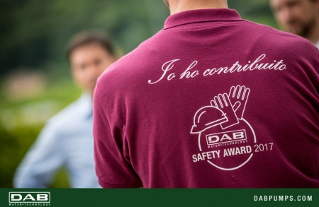 "The DAB production site of San Germano has been awarded the ""Safety Award 2017"""